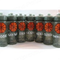 Basketball personalized kids sports water bottle from SimpleXpressions-Personalized!