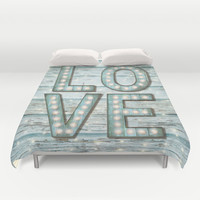 Love is the Light of Your Soul (LOVE lights II) Duvet Cover by soaring anchor designs ⚓ | Society6