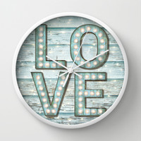 Love is the Light of Your Soul (LOVE lights II) Wall Clock by soaring anchor designs ⚓ | Society6