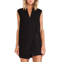 Run Alone Vest Dress in Black