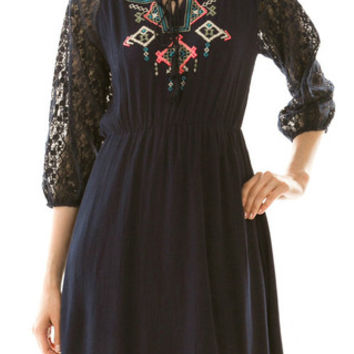 EMBROIDERED JESSICA DRESS