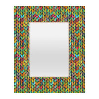 Betsy Olmsted Acid Knit Rectangular Mirror