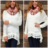 Visions Of Love Ivory Tunic Sweater