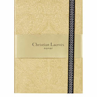 CHRISTIAN LACROIX PASEO GOLD A6 NOTEBOOK