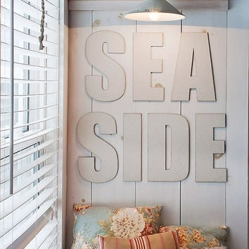 Seaside Canvas Covered Letters Nautical Decor Typography