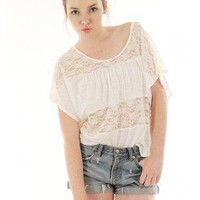 LACE PANEL TOP @ KiwiLook fashion