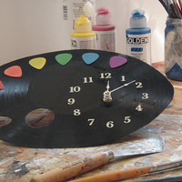 Guitar Pick Pallet Clock  Olyteam