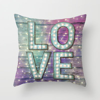 Love is the Light of Your Soul (LOVE lights III) Throw Pillow by soaring anchor designs ⚓ | Society6