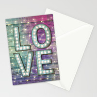 Love is the Light of Your Soul (LOVE lights III) Stationery Cards by soaring anchor designs ⚓ | Society6