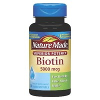 Nature Made Superior Potency Biotin 5000 mcg Softgels - 50 Count