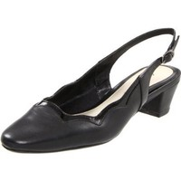 Easy Street Women`s Ginger Slingback Pump,Black Patent,7.5 W US