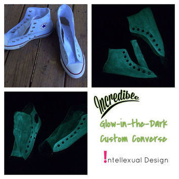 Glow Converse Halloween Custom Glow in the Dark Converse Shoes