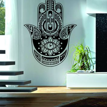 Hamsa Hand Version 9 Decal Sticker Wall Vinyl Art Blessings