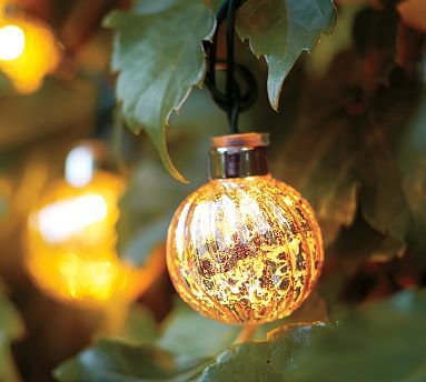 Gold Mercury String Lights : Mercury Glass Globe String Lights from Pottery Barn Build My