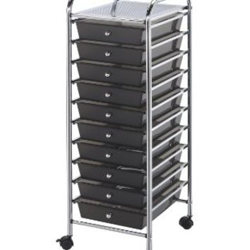 Blue Hills Studio Storage Cart with 10 Drawers 13-Inch by