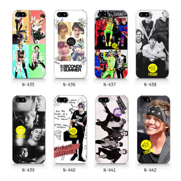 5 Seconds of summer, 5SOS collection iPhone 5 5S case, iPhone 4 4S case, Free shipping N435