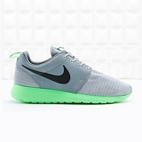 Nike Roshe Run Trainers in Grey and Lime - Urban Outfitters