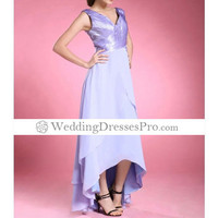 A-line Asymmetrical Chiffon Elastic Woven Satin Mother of the Bride Dress [TOQ0407077] - $100.39 : wedding fashion, wedding dress, bridal dresses, wedding shoes