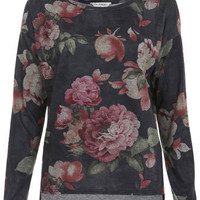 Floral Loopback Sweat - Tops  - Apparel  - Miss Selfridge US