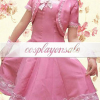 Lolita Costumes Short Sleeves Lace Cotton School Lolita Dress [T110368] - $71.00