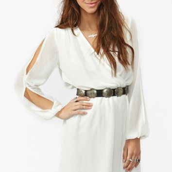 Split Chiffon Dress