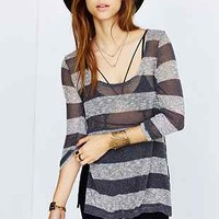 Silence + Noise Striped Side-Slit Pullover Sweater - Urban Outfitters