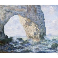The Manneporte (Etretat) Giclee Print by Claude Monet at Art.com
