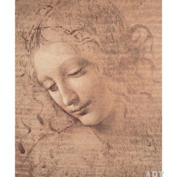 Female Head (La Scapigliata), c.1508 Giclee Print by Leonardo da Vinci at Art.com