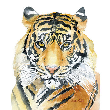 50 off  Tiger Poster Print  22 x 28  Watercolor Painting
