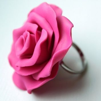 Raspberry Rose Cocktail Ring