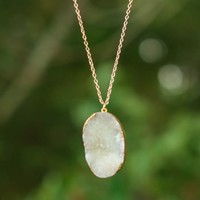 Heart Of Stone Necklace-White