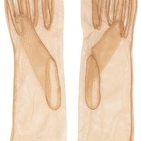 Simone Rocha Faux pearl-embellished tulle gloves – 60% at THE OUTNET.COM