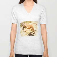 ACTION PUMA V-neck T-shirt by Catspaws | Society6