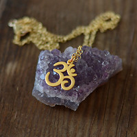 Om Necklace in Gold Vermeil