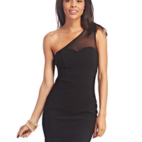 One-Shoulder Sweetheart Bodycon Dress | Wet Seal