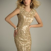 Short Sequin Epaulet Dress with Open Back