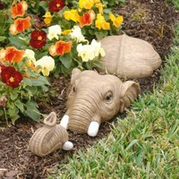 Design Toscano NG34904 In For a Swim Elephant Lawn Sculpture
