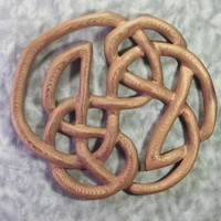 Knot of Infinity -Traditional Celtic Wood Carved Knot -Book of Kells -