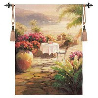Fine Art Tapestries Courtyard View II Tapestry - Roberto Lombardi - 2460-WH