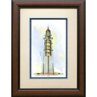 Phoenix Galleries Lighthouse Section Framed Print - HP667