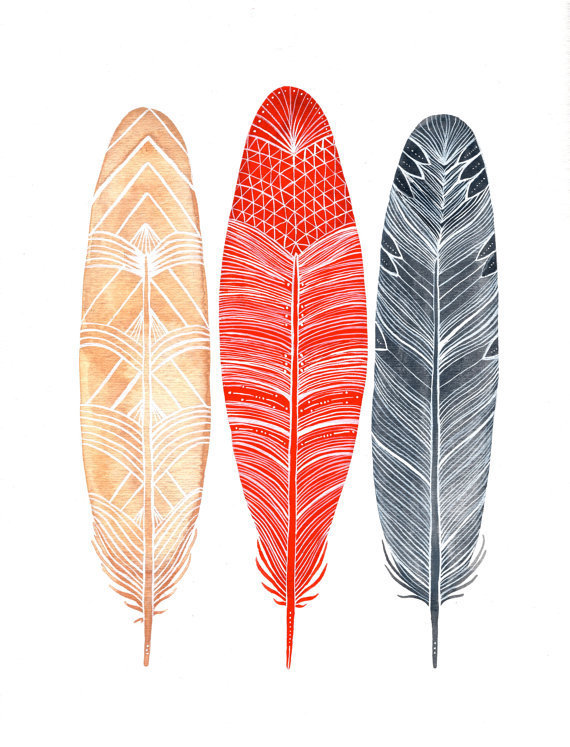 Maya Feathers - Small Archival Print