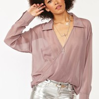 Twisted Chiffon Blouse