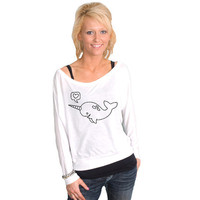 Narwhal Bella Dolman Long Sleeve