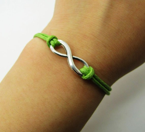 10%OFF Discount Green Ropes Steampunk Bracelet antique silver karma bracelet,Infinity Wish Bracelet Adjustable Bracelet 883S
