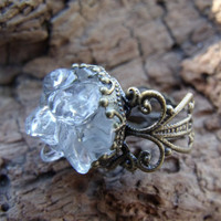 Clear Quartz Crystal Ring