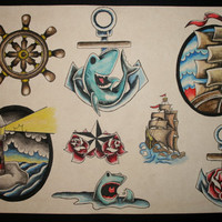 Nautical themed flash sheet