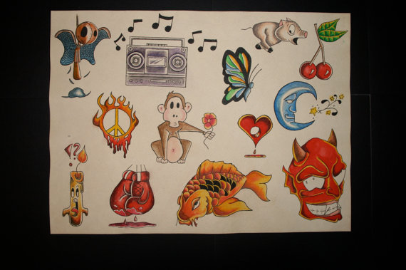 Cartoon flash sheet