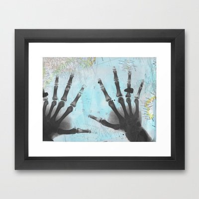 The Good Father's Hands Framed Art Print by Catherine Holcombe | Society6