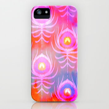 Peacock Feather Batik iPhone & iPod Case by Jacqueline Maldonado | Society6