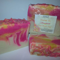 Flowerbomb Cold Process Soap, Homemade, Vegan, Handmade